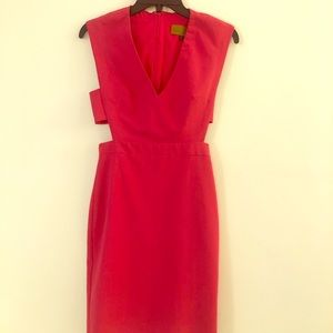 Nicole Miller Cutout V-neck Sheath Dress